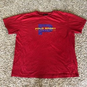 VTG Polo Sport Ralph Lauren P cotton graphic tee L